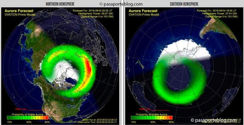 aurora boreal predicciones cuando ver auroras boreales