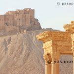 El castillo Qalaat ibn Maan, Palmira, viaje a Siria. بالميرا، والسفر إلى سوريا.