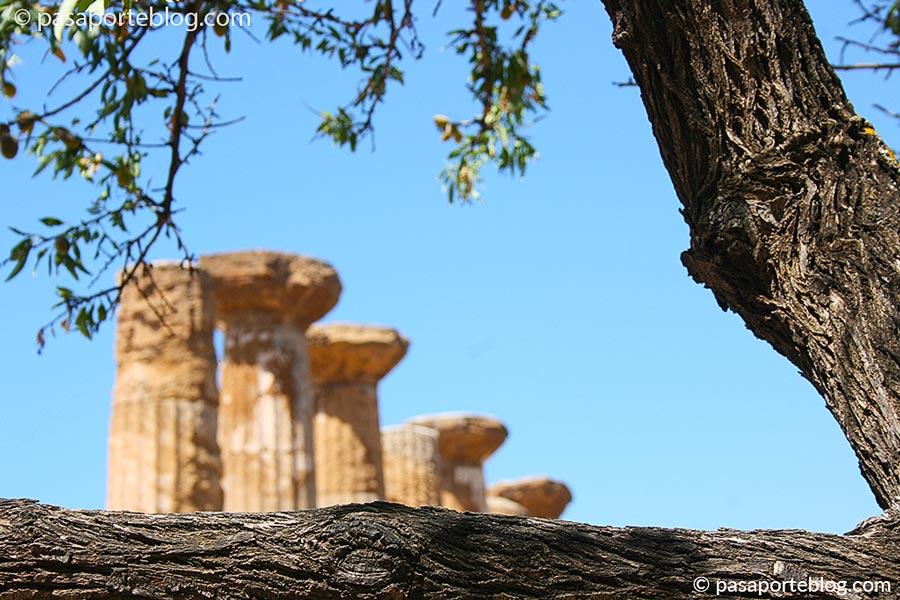el templo de juno agrigento valle de los templos viaje a sicilia