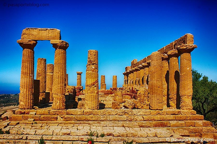 templo de juno valle de los templos viaje a sicilia